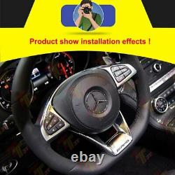 AMG Steering Wheel Cover Trims for Mercedes Benz C E Class W205 W213 W218 C200