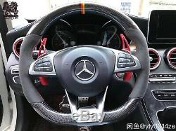 AMG-Style Steering Wheel Low Cover Trim Two-Type for W176 A180 200 A250 A45 AMG