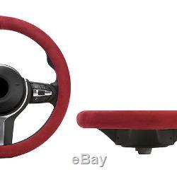 Alcantara Car Steering Wheel Cover Free Size 100% Italy Original Fabric