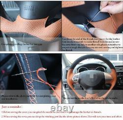 Alcantara Sew Steering Wheel Cover For BMW M2 M3 M4 X 6 M Sport 1 2 3 4 5 Series