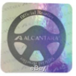 Alcantara Suede Steering Wheel Cover D Cut Shape Benz Audi Volkswagen Black