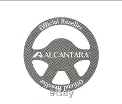 Alcantara Suede Steering Wheel Cover For All Vehicle Deep Grey 38mm(14.96 inch)