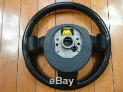 Audi A4 S4 B7 Black/Gray/Red Stitch Sport Steering Wheel S-Line Paddle Shift