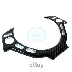 Auto Steering Wheel Cover Interior Trims Upgrade For Nissan GTR R35 Carbon Fiber