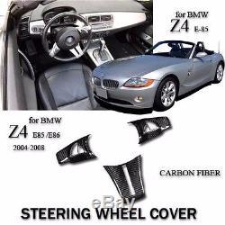 Automotive interior for BMW Z4 E85 E86 2004-2008 carbon steering wheel cover