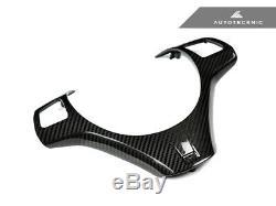 Autotecknic Carbon Fiber Steering Wheel Trim Cover Bmw E90 E92 E93 M3 E82 1m