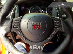 Autotecknic Dry Carbon Fiber Steering Wheel Cover For Nissan R35 Gtr Gt-r