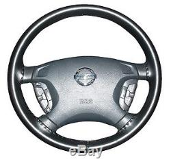BLACK Leather Steering Wheel Cover F-150 250 350 Wheelskins Size 15 3/4 X 3 7/8