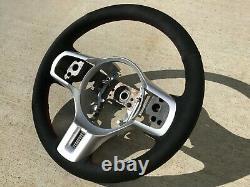 BLACK v2 Stitching Lancer EVO X EVO 10 Steering Wheel Wrap Suede