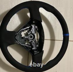 BLUE v2 Stitching Subaru WRX/STI Steering Wheel Wrap Suede 2005-2007