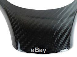 BMW 08-12 E90 E92 E93 M3 Real Carbon Fiber Steering Wheel Cover Trim Overlay