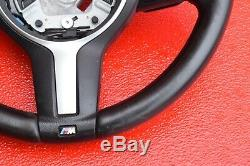 BMW 235 328 335 428 435 M SPORT LEATHER STEERING WHEEL With PADDLE SHIFTERS OEM