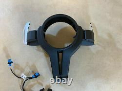 BMW 5 6 F07 F10 F11 F06 F12 F13 Steering Wheel M5 Leather Cover Paddles Wire SET