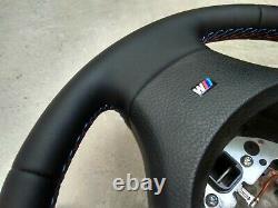 BMW 5 F07 F10 F11 7 F01 F02 NEW NAPPA LEATHER HEATED STEERING WHEEL M stitch st