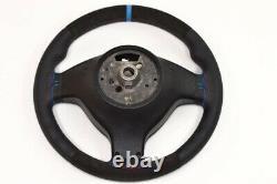 BMW Alcantara Steering Wheel BMW M3 E46 E39 X5 E53 M5 Suede / leather BLUE strip