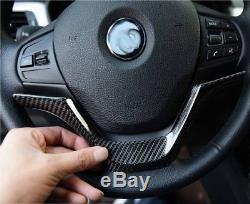 BMW CARBON FIBER STEERING WHEEL COVER TRIM F30 F31 F32 F33 F34 F20 F22 Non-M