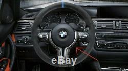 BMW Carbon Fiber Steering Wheel Trim Kit F80 F22 F30 F10 F32 F33 M Performance