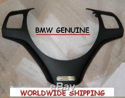 BMW E90 E91E92 E93 Black Individual Steering Wheel Trim GENUINE