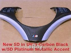 BMW E90 E91 E92 E93 3 Series 2006+ Carbon Fiber Steering Wheel Cover / Trim