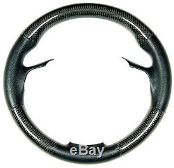 BMW F01 7-SERIES 740i 750i REAL LEATHER CARBON SPORT STEERING WHEEL COVER 2009UP