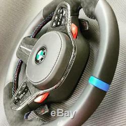 BMW G30 G31 F90 M5 G11 G12 G05 G01 G02 Carbon Fiber & Alcantara Steering Wheel