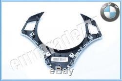 BMW Genuine E90 E91 E92 E93 3 Series 2006+ Chrome Steering Wheel Cover / Trim