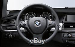 BMW Genuine M Sport Steering Wheel Cover Trim Black BMW E70 X5 3.0si 4.8i