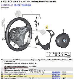 BMW M Sports Steering Wheel Cover Trim, 1 & 3 Series E82, E90, E92, E93 2007-2011