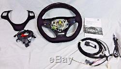 BMW OEM E90 E91 E92 E93 Performance Alcantara Steering Wheel Display For Paddles