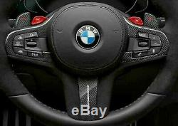 BMW OEM G30 G12 F90 G01 G02 G05 G07 Steering Wheel Trim Carbon Fiber & Alcantara