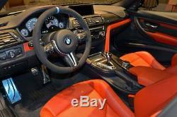 BMW Performance M3 M4 F30 F31 F32 F80 F82 F83 Matte Carbon Steering Wheel Cover