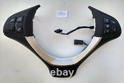 BMW X5 E70 X6 E71 SPORT GLOSSY CARBON STEERING WHEEL BUTTONS PANEL HEATED sport
