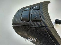 BMW X6 E71 GLOSSY CARBON STEERING WHEEL CONTROL BUTTONS PANEL TRIM COVER shift