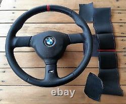 BMW e30, e34 m3 m5 385mm m tech 2 steering wheel cover. Hand made