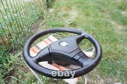 BMW e31 e34 e36 M3 M5 Z3 e39 OEM Leather Sport Steering wheel AirBag Sleep ring