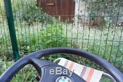 BMW e31 e34 e36 M3 M5 Z3 e39 OEM Leather Sport steering wheel AirBag + Slip Ring
