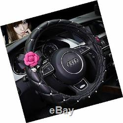 Besplore Girly Steering Wheel Cover, Beautiful Camellia, 15 I. FREE 2 Day Ship