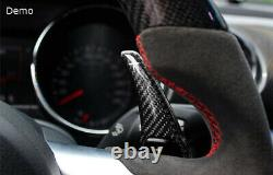 Black Carbon Fiber Steering Wheel Paddle Shifter Extension For Dodge Challenger