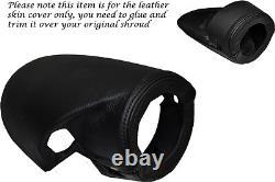 Black Stitch Fits Ford Capri Mk2 Mk3 Steering Wheel Shroud Leather Skin Cover