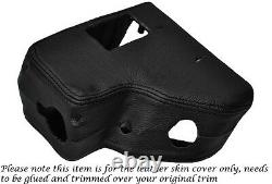 Black Stitch Steering Wheel Shroud Leather Cover Fits Landrover Series 3 III