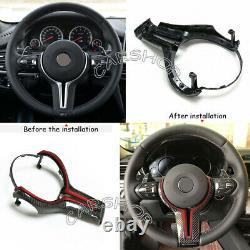 Blue Carbon Fiber Steering Wheel Trim Replace For BMW M2 M3 M4 M5 M6 X5M X6M
