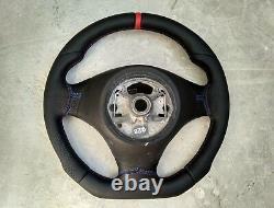 Bmw 3 E90 E91 X1 E84 Nappa/perf Leather Ergonomic Inlays Steering Wheel Thick