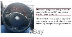Bmw E39 1999-2003 E46 99-2005 E36 E53 Bmw X5 Z3 Alcantara Steering Wheel Cover