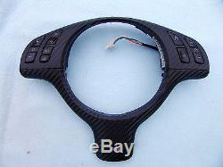 Bmw E46 M3, E39 M5 Steering Wheel Cover Rewrapped With Carbon Fiber Vinyl
