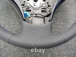Bmw E60/61 New Factory Leather Heated Steering Wheel/thumb Rests/m Stitch Carbon