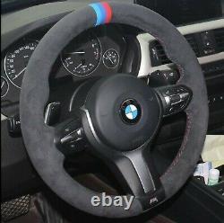 Bmw F32 F30 F34 F87 M2 F80 M3 F82 F12 F13 F85 Alcantara Steering Wheel Cover Tri