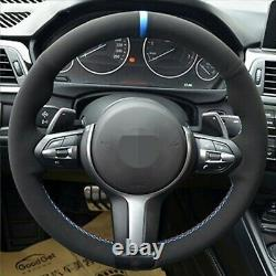 Bmw F32 F30 F34 F87 M2 M3 F80 F82 F12 F13 Alcantara Steering Wheel Cover Blue