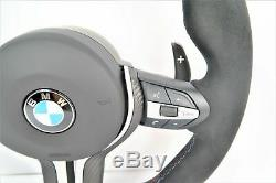 Bmw M Sport F15 F20 F22 F30 F32 M1 M2 Leather Half Alcantara Steering Wheel #178