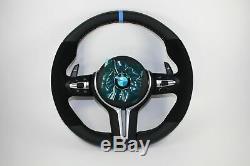 Bmw M-sport F16 F15 F32 F30 F22 F20 Half Alcantara Dsg Mlf Steering Wheel