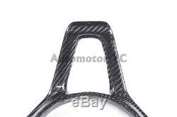 CARBON FIBER Steering Wheel Cover Trim Interior Fit For 11-14 McLaren MP4 12-C